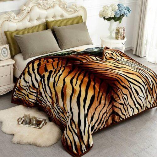 Tiger-Print-Mink-Blankets